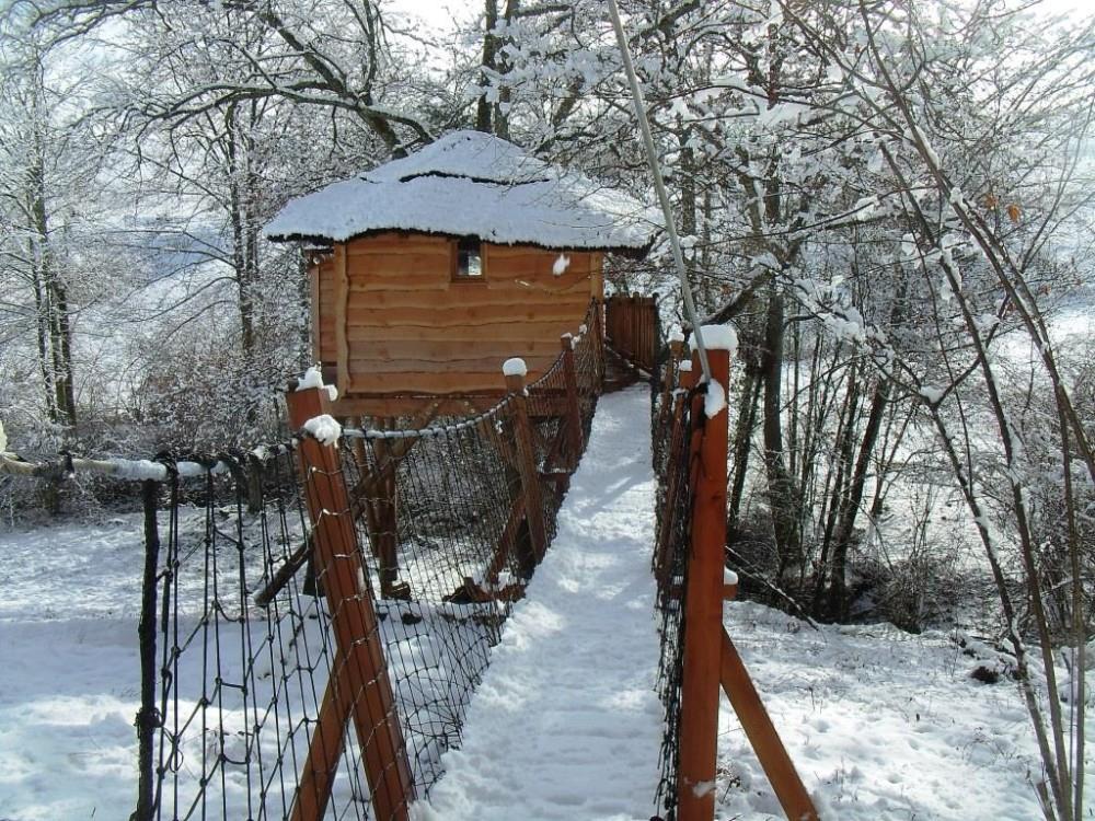 Cabane de luxe 64 sous la neiges