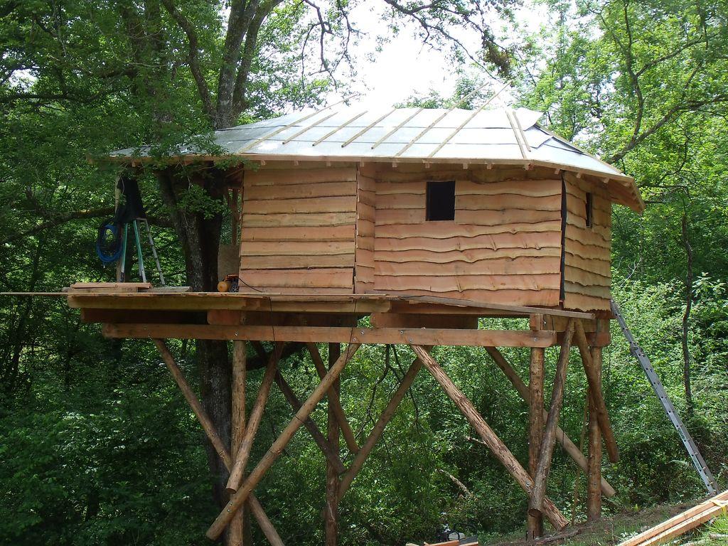 cabanes dans les arbres 64 la construction de cabanes dans les arbres une nuit en cabane tout. Black Bedroom Furniture Sets. Home Design Ideas
