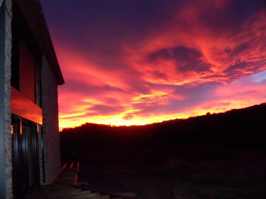 Un splendide lever de soleil au Clos Claberot